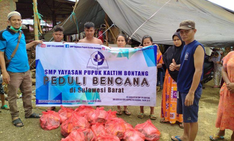 Peduli Musibah di Kalsel dan Sulbar, SMP YPK Salurkan Donasi Rp 34.450.000