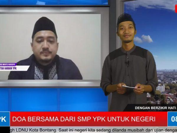 SMP YPK Bontang Gelar Doa Bersama Agar Pandemi Covid-19 Segera Berlalu