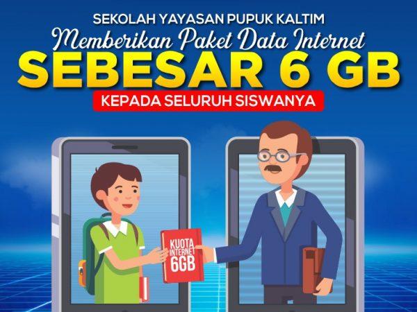 Sekolah Yayasan Pupuk Kaltim Berikan Paket Data Gratis untuk Seluruh Siswa Untuk Mendukung Proses PJJ